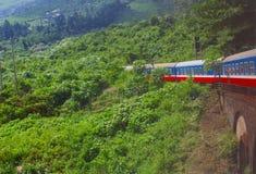 Zugfahrtransport-Dschungelberge, Vietnam lizenzfreie stockfotos