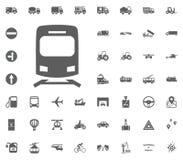 Zugikonenzeichen Gesetzte Ikonen des Transportes und der Logistik Gesetzte Ikonen des Transportes Lizenzfreie Stockfotos