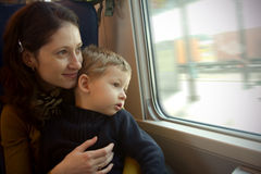 Zugreise Stockfotos