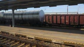 Zugreise-Fensteransicht stock video footage