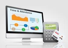 Zugriffskontrolle - Zeit u. Anwesenheit 2 stock abbildung