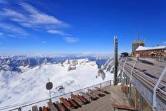 Zugspitze överkant av Tyskland Arkivfoto