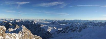 Zugspitze - верхняя часть Германии Стоковое Изображение RF