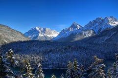 Zugspitze в зиме Стоковые Фото