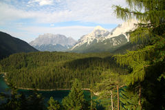 Zugspitze. Is the biggest peak in Germany Stock Photos