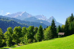 Zugspitze. Mountain Zugspitze in European Alps Royalty Free Stock Images