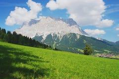 Zugspitze, alpi austriache Fotografie Stock Libere da Diritti