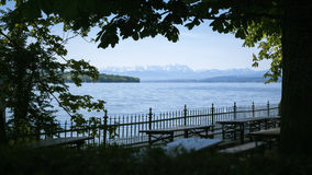 Zugspitze Ammersee Photographie stock