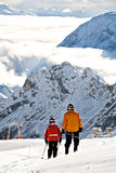Zugspitze area. In Alps at winter, Germeny, Europe Stock Images
