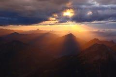 Zugspitze, Bavaria, Abendstimmung Royalty Free Stock Images