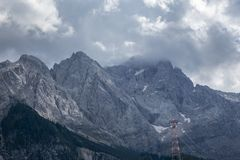 Zugspitze in bayern. In summer royalty free stock photography