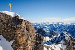 Zugspitze. Beautiful Blue Sky at Zugspitze, Germany Stock Photo