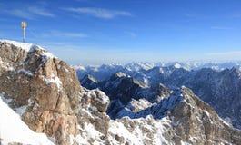 De berg van Zugspitze - Bovenkant van Duitsland. Royalty-vrije Stock Fotografie