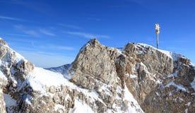 De berg van Zugspitze - Bovenkant van Duitsland. Royalty-vrije Stock Afbeeldingen