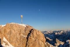 Zugspitze - Bovenkant van Duitsland Royalty-vrije Stock Foto's