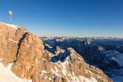 Zugspitze - Bovenkant van Duitsland Royalty-vrije Stock Afbeeldingen
