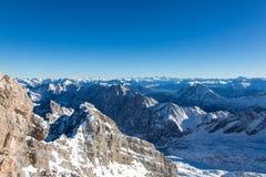 Zugspitze - dessus de l'Allemagne Photos libres de droits