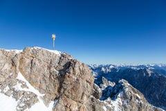 Zugspitze - dessus de l'Allemagne Photographie stock