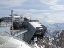 Zugspitze-Drahtseilbahnbergstation Lizenzfreie Stockfotos