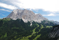 Zugspitze from Ehrwald (Austria) Royalty Free Stock Images
