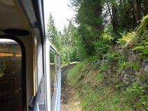 Zugspitze-Eisenbahn, Bayern, Deutschland Stockfotografie