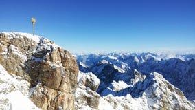 Zugspitze - el top de Alemania Foto de archivo libre de regalías
