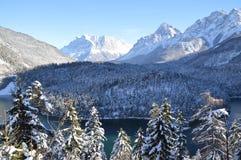 Zugspitze en invierno Imagenes de archivo