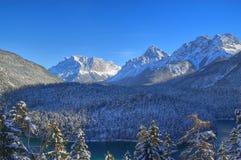 Zugspitze en invierno Foto de archivo