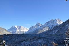 Zugspitze en invierno Fotos de archivo libres de regalías