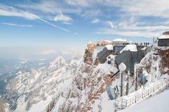 Zugspitze Gebirgsstation Stockbilder