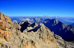 Zugspitze in Germania Immagini Stock Libere da Diritti