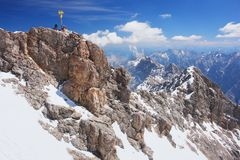 Zugspitze, Germany. Zugspitze, the highest peak in the German Alps Stock Image