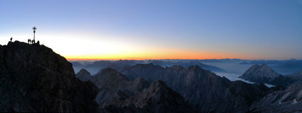 Zugspitze, Germany's highest mountain peak Royalty Free Stock Photos