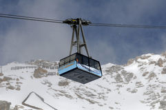 Zugspitze Glacier Cable Car Stock Image