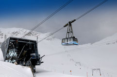 Zugspitze Glacier Cable Car - cablecar station Stock Photo