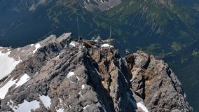 Zugspitze. Highest mountain in Germany Stock Photo