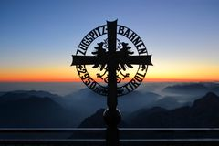 Zugspitze highest peak of Germany Stock Image