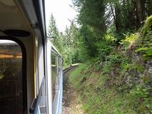 Zugspitze järnväg, bavaria, Tyskland Arkivbild