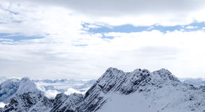 Zugspitze loppfoto - Germany's högst maximum Royaltyfri Fotografi