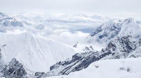Zugspitze loppfoto - Germany's högst maximum Royaltyfri Foto