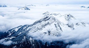Zugspitze loppfoto - Germany's högst maximum Royaltyfria Bilder