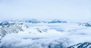 Zugspitze loppfoto - Germany's högst maximum Arkivbilder