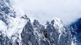 Zugspitze loppfoto - Germany's högst maximum Fotografering för Bildbyråer