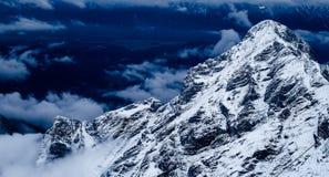 Zugspitze loppfoto - Germany's högst maximum Royaltyfria Foton