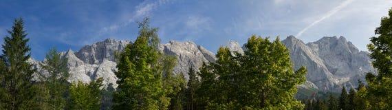 Zugspitze massif, highest german mountains Stock Photo