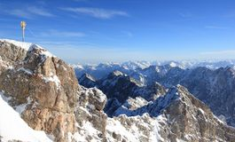 Zugspitze mountain - Top of Germany. Royalty Free Stock Photography