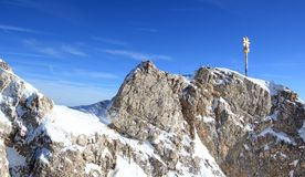 Zugspitze mountain - Top of Germany. Royalty Free Stock Images
