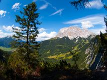 Zugspitze Mountain Royalty Free Stock Photography