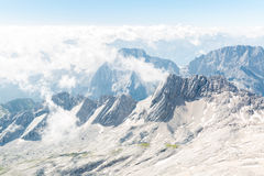 Zugspitze mountain top of Germany Stock Photography