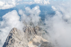 Zugspitze mountain top of Germany Royalty Free Stock Images